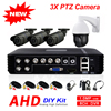 Outdoor 8CH 1080N 5 In 1 Hybrid DVR AHD 720P 4CH 1500TVL Security Camera System 3X