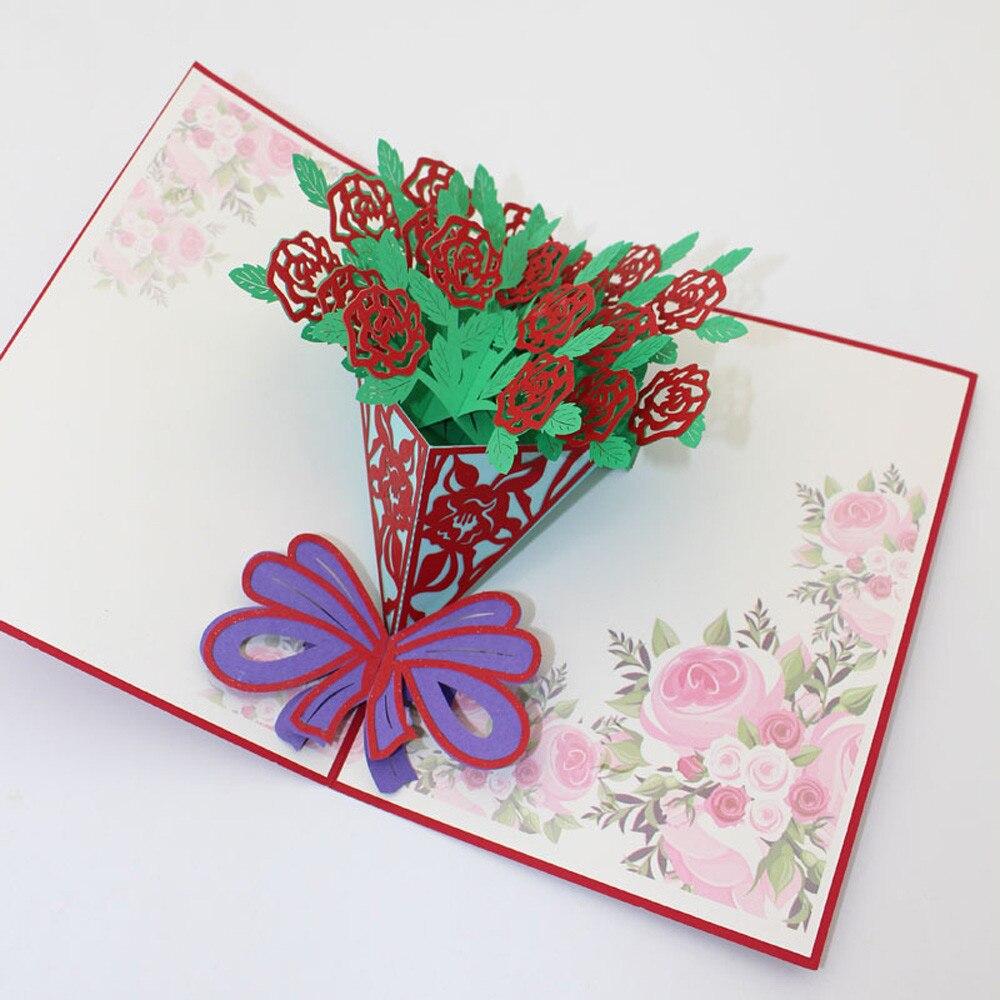 Людьми старинные, как сделать объемную открытку розы