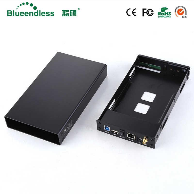الألومنيوم قرص صلب حافظة خارجية ناس موزع إنترنت واي فاي 300mbps واي فاي مكرر HDD3.5 sata إلى usb 3.0 الضميمة صندوق قرص صلب خارجي