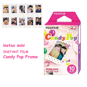 Image 5 - For Fujifilm Instax Mini 11 8 9 25 90 Film Camera, 50 Sheets Instant Photo Rainbow, Stripe, Shiny Star, Candy Pop, Stained Glass