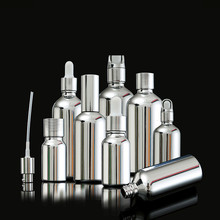 100ml Empty Golden Silver Plating Sprayer Glass Bottle Perfume Vial Nasal Oil e Liquid Makeup Refillable Containers Package все цены