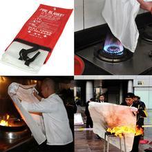 Противопожарное одеяло для выживания из стекловолокна, защитный чехол для дома, кухни, кемпинга, WIF66