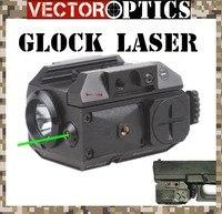 TAC Vector Optics Blackout Tactische Pistool Pistool Wapen Zaklamp met Groene Laser Dot Sight fit 20mm Weaver Rails voor Glock