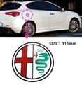 Alfa Romeo quatrefoil green delta Car Side Fender Emblem Badge Sticker for 4C 147 156 166 159 Spider cap the tank Sticker