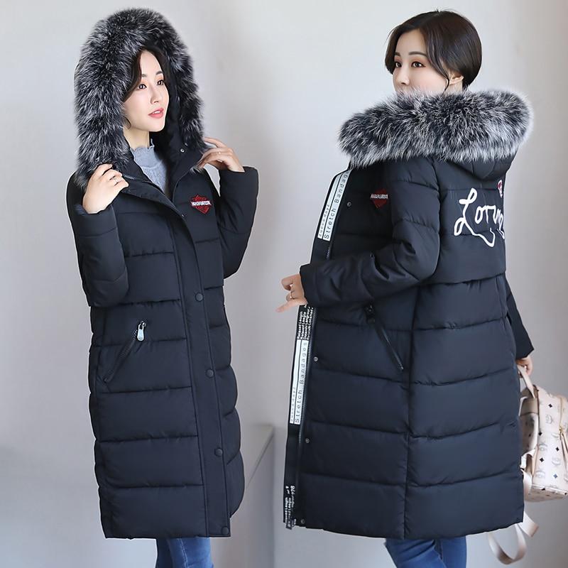 Noir De gris army Green Fourrure Nouveau Épaississement Grande Col Taille Femmes Long Manteau Grand Coréenne E2DWIH9