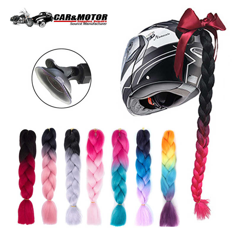 Punk Style Motorcycle Gradient Ramp Helmet Braids Women Motorcycle Helmet Casco Moto Decoration Retro Motorbike Helmet Braids