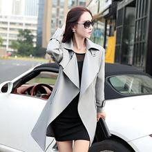 New Fashion Long Sleeve Europe Trench coats For Women Autumn Winter Tre