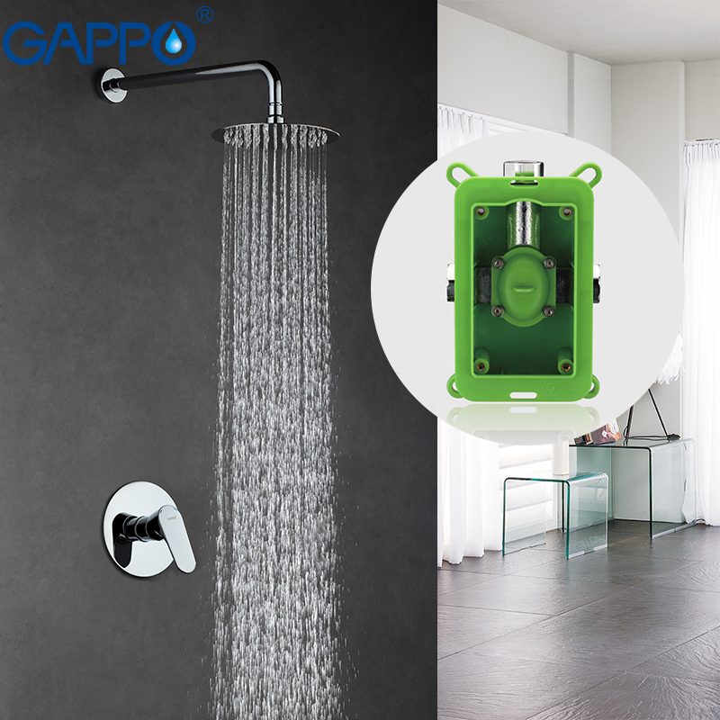 GAPPO Wall bronze rainfall shower faucet chrome bathtub faucet tap waterfall head Bath Shower bathroom shower faucet set GA7101 gappo bathroom shower faucet set bronze bathtub shower faucet bath shower tap shower head wall mixer sanitary ware suite ga2439