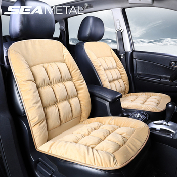 Plush Universal Car Seat Cover Winter Warm Cushion Front Automobile Thick Pad Soft Set Auto Interior Accessories Covers Pillows car seat
