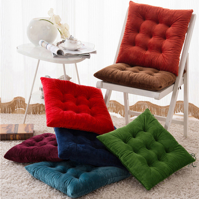 Winter Thicken Square Seat Cushion For Home Dining Chair Back Cushions Pads Cojines Decorativos Para Sofa Pillow Office Mat