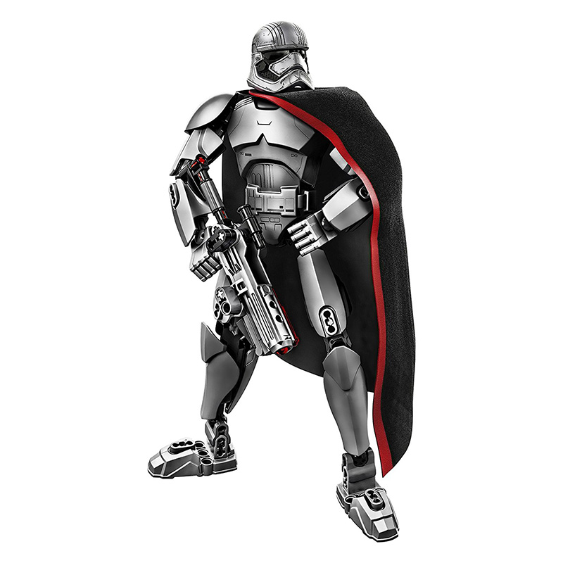 Star Wars 7 The Force Awakens Building Blocks Captain Phasma figures Model Children Best Gift christmas Rogue One play arts star wars the force awakens boba fett figure action figures gift toy collectibles model doll 204