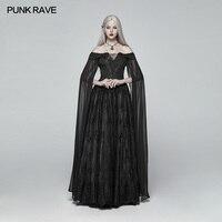Панк рейв Готический Pinup макс платье Для женщин темно косплей этап сценический костюм WQ383