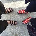 2016 Новые Случайные Сандалии Женщин Вьетнамские Обувь Черный И Коричневый Плоские Туфли Лето Zapatos Плюс Размер 44 Светло-Пляж