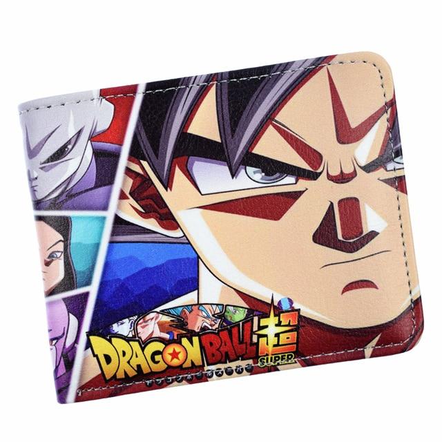 Nueva llegada de Dragon Ball Z de la bola del dragón del Anime Super Broly los hombres cartera con monedero cremallera bolsa monederos corto bolso