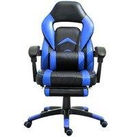 Samincom ergonómico de alta espalda grande silla de oficina de juegos azul-negro respaldo: 19,68