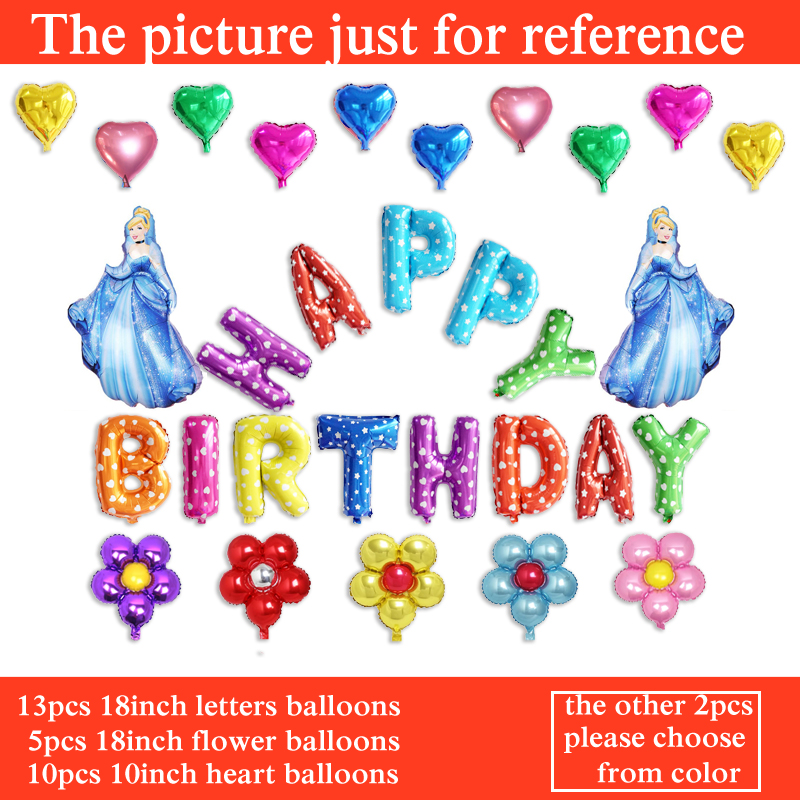helium balloons princess cinderella birthday balloons 30pcs balloons set for gir