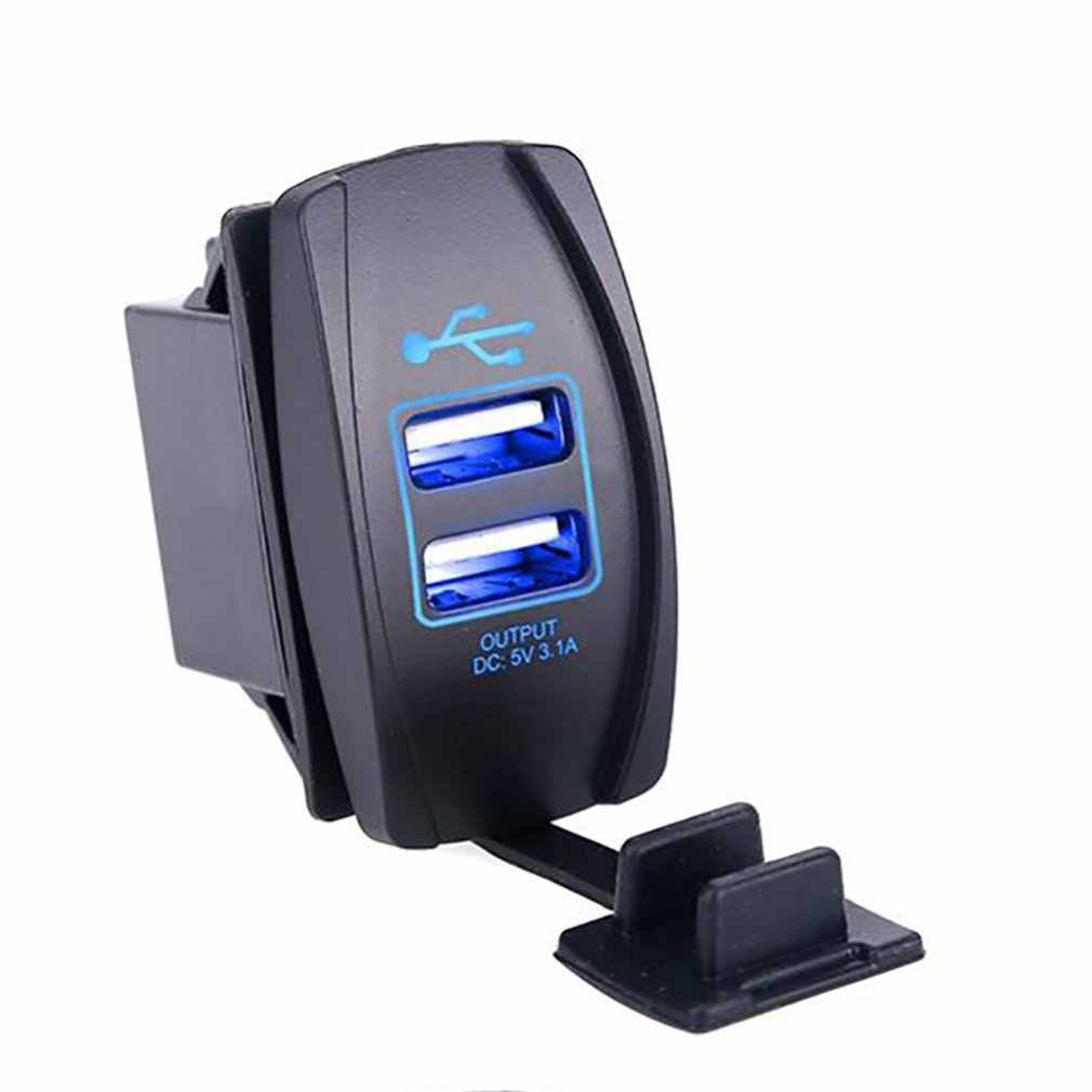 Portable Dual USB Ports Power Adapter Outlet Universal Car Cigarette Lighter Socket Splitter Charger 3.1A