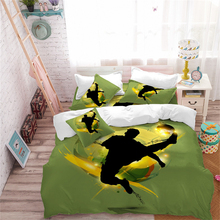 Sports Design Bedding Set Playing Football Basketball Posture Duvet Cover Teens Cartoon Pillowcase Bedclothes D40