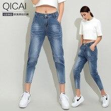 2016 новых женщин весна женские джинсы Харен джинсы носить девять футов микро брюки 1688 оптовая