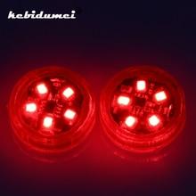 Kebidumei 2 шт. 5 светодиодов Предупреждение импульсная лампа индикации безопасности Беспроводной анти-столкновения сигнальный светильник стояночные огни автомобиля открывания двери