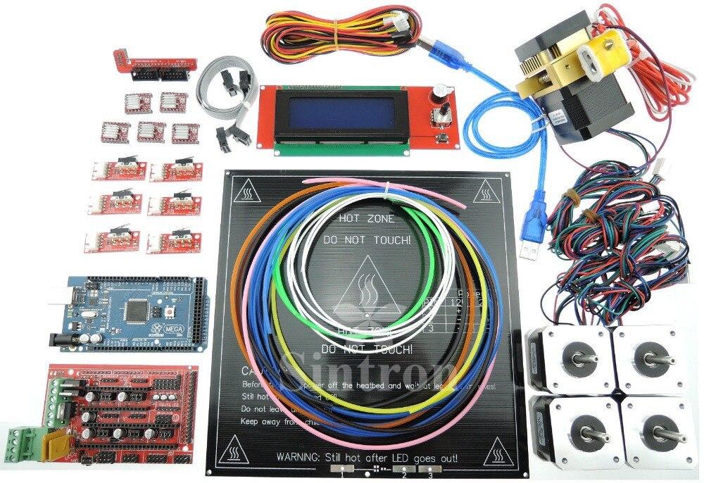 [SINTRON] 3D Printer Kit RAMPS 1.4 + Mega 2560 + A4988 + Motor + Extruder RepRap elecfreaks 3d printer ramps reprap exaltation kit