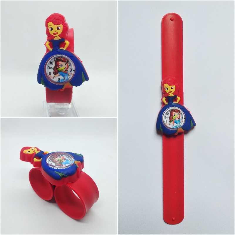 Детские часы, длинное платье, студенческие часы принцессы, водонепроницаемые Модные Повседневные детские кварцевые наручные часы для девочек и мальчиков