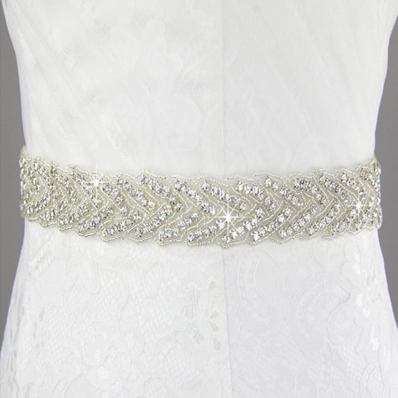 Inofinn 104# Crystal Wedding Belts Satin Rhinestone Wedding Dress Belt Wedding Accessories Bridal Ribbon Sash Belt