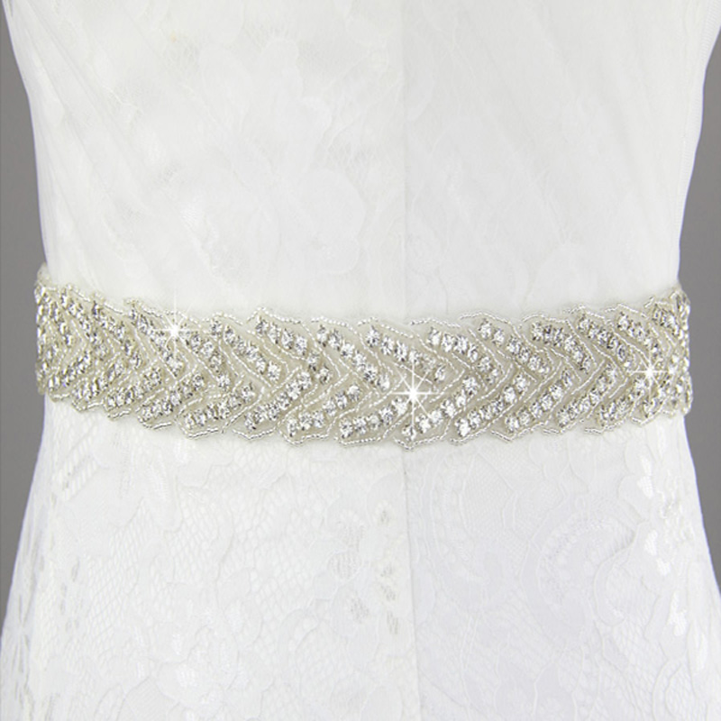 Inofinn 104# Crystal Wedding Belts Satin Rhinestone Wedding Dress Belt Wedding Accessories Bridal Ribbon Sash Belt