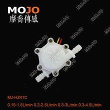 Зал расходомер MJ-HZ41C ниппель водонагреватель расходомер: импульсный сигнал 0,3-3 л/мин