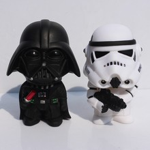 11cm New Star Wars Figures toy Black Knight Darth Vader Stormtrooper PVC Action Figures set in