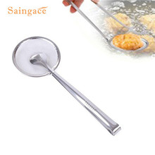 Filter Spoon With Clip Food Kitchen Oil-Frying Salad BBQ FilteA11