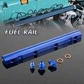 Para vw audi 20 v 1.8 t turbo dtm cnc aluminum fuel rail kit set
