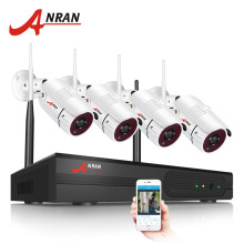 ANRAN 4CH CCTV Camera System Wifi 1080P NVR Kit H.264 1080P HD IP Camera Wifi Outdoor Night Vision Security Camera System