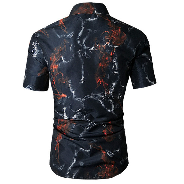 3D Color Print Hawaiian Men Flowers Shirt 1