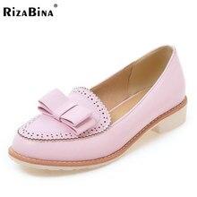 Rizabina Женские туфли-лодочки на высоком каблуке женские слипоны, Цвет Обувь женщин ежедневно отпуск ретро Обувь Размеры 34–43