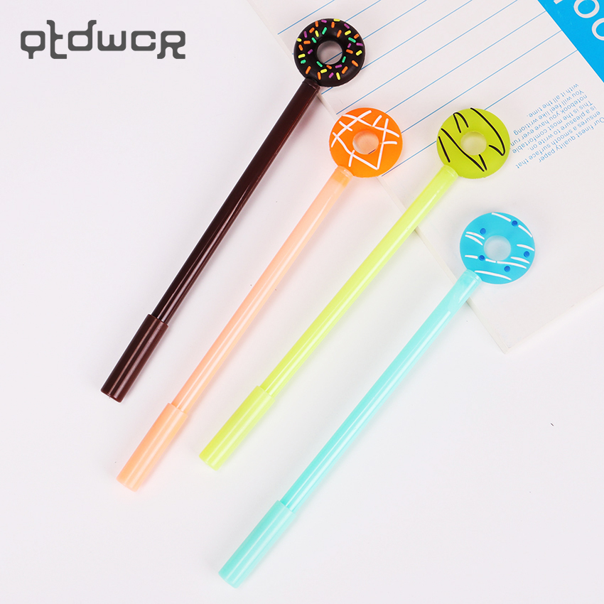 3PCS 0.38mm Creative Cartoon Donuts Gel Pen Cute Kawaii Candy Color Writing Pens for  School Supplies Stationery