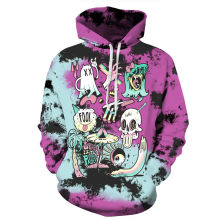Halloween 3D Hoodies Men Women Hooded Sweatshirt Ghost Monster Aliens Print Casual