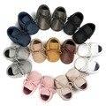 Nova marca romirus lace up meninos kid suave anti-slip infantil da criança do bebê recém-nascido berço do bebê mocassins sapatos de bebê botas meninas
