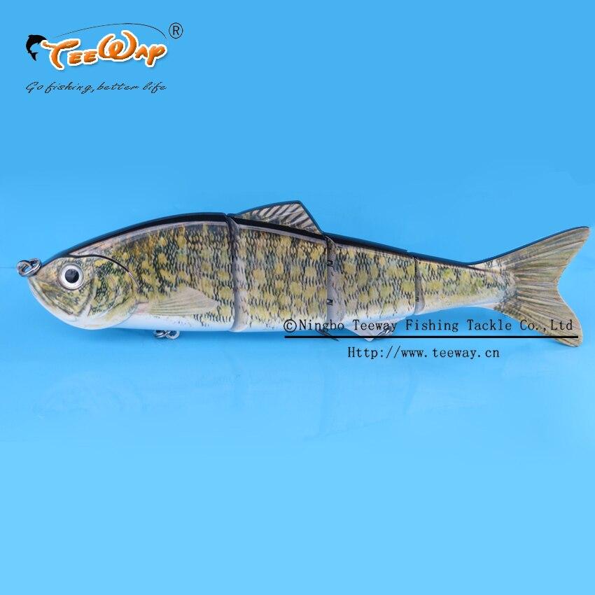 New Product Fishing Lure 4 Segment Swimbait Crankbait Hard Bait Slow 135g 25cm Fishing hook Fishing Tackle FL4-B05