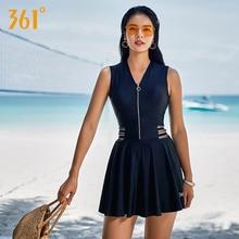 7099f7642 361° 361 Swimsuit One Piece Women 2018 Plus Size Conservative Skirt Ladies  Swimwear