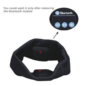 Image 4 - Aimitek Bluetooth Hoofdtelefoon Draadloze Hoofdband Sport Headsets Yoga handsfree Oortelefoon Zachte Warme Hoed Smart Cap met Microfoon