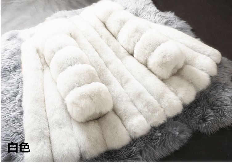 Mothe and girl Fahion women thick fur coat fox fur jacket long sleeves ganuine fox outfit hot sale Big size 4XL artificial furMothe and girl Fahion women thick fur coat fox fur jacket long sleeves ganuine fox outfit hot sale Big size 4XL artificial fur