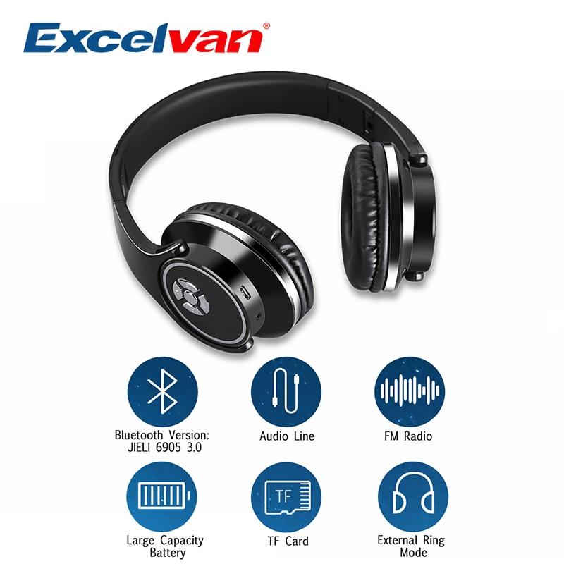Excelvan BT-9960 Bluetooth Headset Wireless Headphones Stereo Foldable Sport Headphone Microphone Headset Handfree MP3 Player ditmo dm 5300 stereo headset headphone w microphone red black