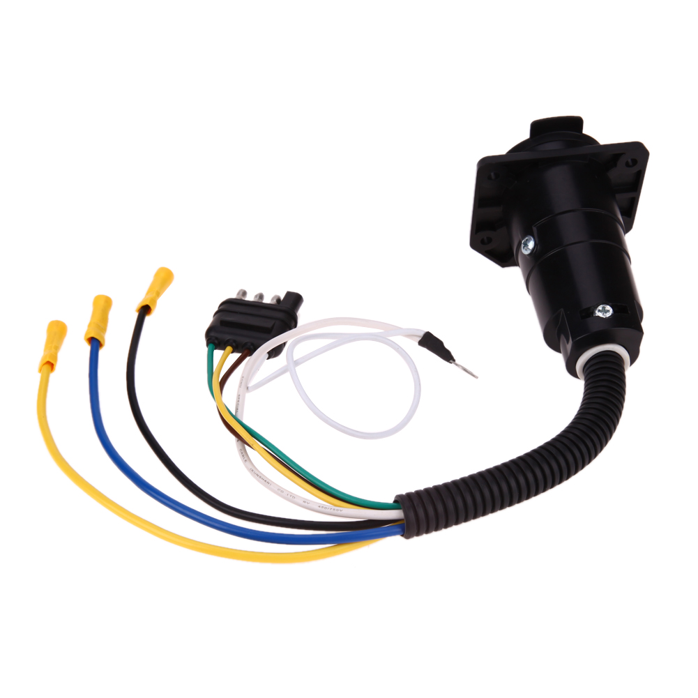 US Standard 7 Pin zu 4 Pins Lkw anhänger AV Stecker Adapter Klinge ...
