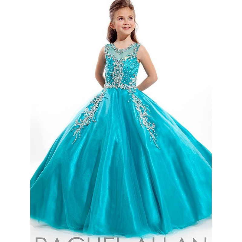 little girl prom dresses Pageant Dresses Princess Tulle Sheer ...