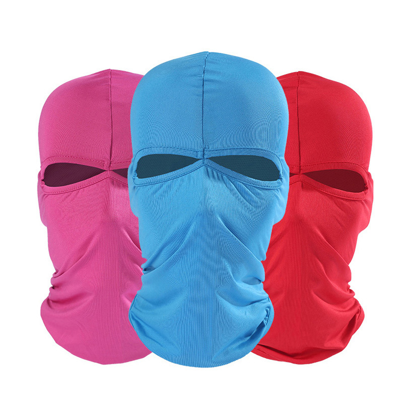 New Face Mask Unisex Breathable Moto Mask Ski Motorcycle Paintball Military Tactical Face Shield Hoody Lycra Climbing Helmet Cap