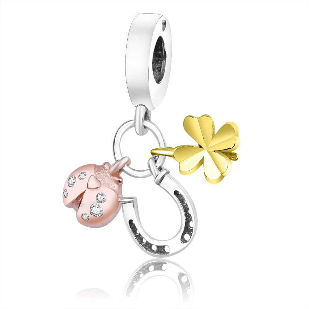 Подходит для оригинальных браслетов Pandora DIY Ювелирные изделия Осенняя коллекция ромашки ажурные шармы 925 пробы серебряные бусины в виде цветка - Цвет: A17