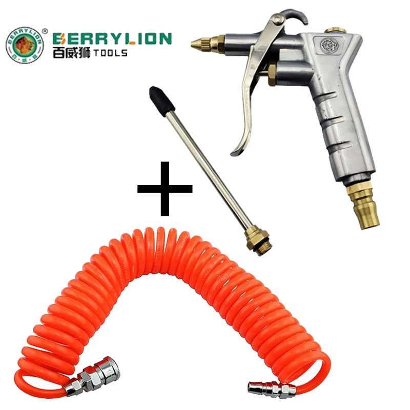 (9M-Length) - air blowing gun blowing gun set for vehicle air Compressor Pneumatic Quick Coupler Connector Socket Fitting