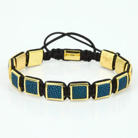 attractive square spacer macrame men bracelet statement charm anil arjandas blue pearlfish braiding bracelet jewelry accessories