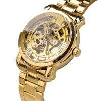 Millky 별 시계 높은 품질의 새로운 고급 자동 기계 해골 골드 남성 손목 시계 17mar23